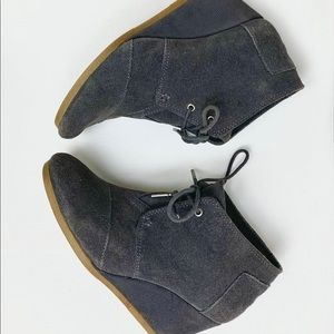 TOMS Gray Wedge Shoes